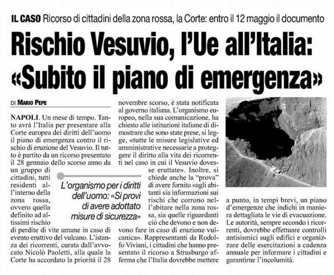 """Da """"Il Roma"""", 12 aprile 2014"""