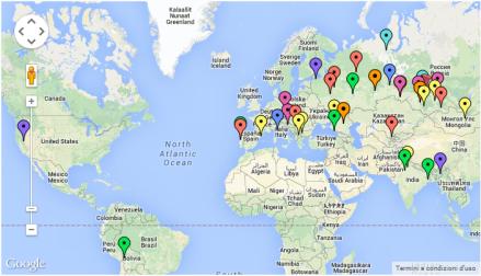 Mappa dei partecipanti al convegno di Kemerovo 2014