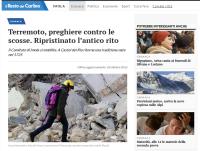 """""""Il Resto del Carlino"""", """"Terremoto, preghiere contro le scosse. Ripristinato l'antico rito"""", 28 ottobre 2016."""