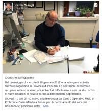 Pagina Fb di Nicola Casagli, 30 gennaio 2017: https://www.facebook.com/nicola.casagli/posts/321841344878170